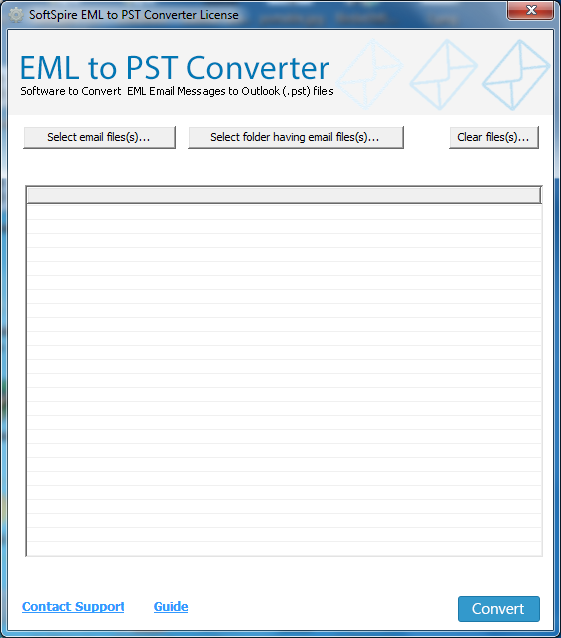 Extract EML files into Outlook PST 7.4.3