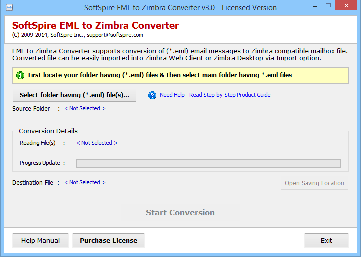 Import EML files to Zimbra