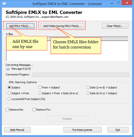 EMLX to EML Converter with security