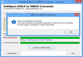 EMLX to EML conversion complete