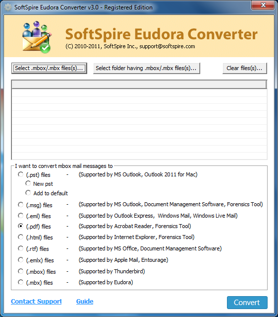 Eudora Mail to EML Converter Screenshot