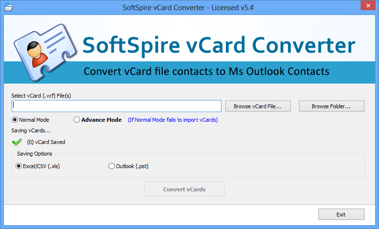 vCard files Converter full screenshot
