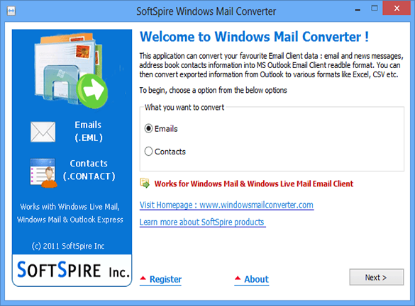 Windows Mail Converter